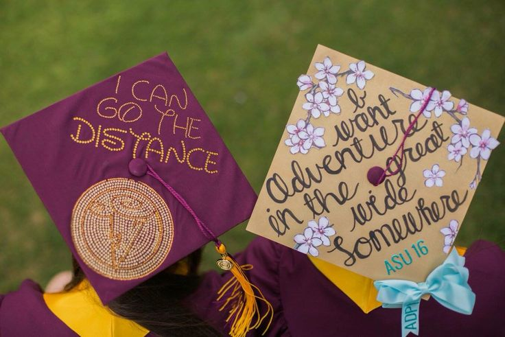 Grad caps 2016 Hercules and beauty and the beast quotes