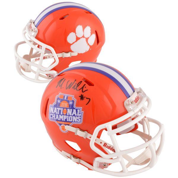 Mike Williams Clemson Tigers Fanatics Authentic Autographed Riddell 2016 College Football Playoff National Champions Speed Mini Helmet - $119.99
