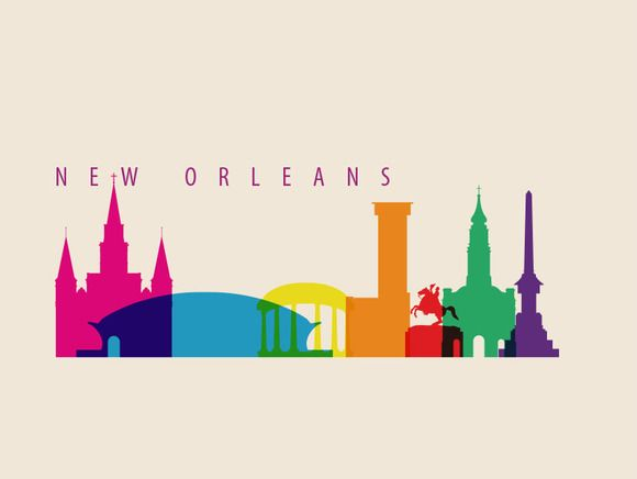 Check out New Orleans City Landmarks by IB on Creative Market