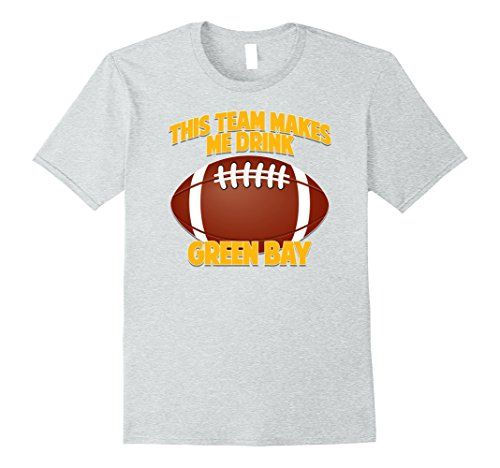 Mens This Team Makes Me Drink T-Shirt Green Bay 2XL Heath.