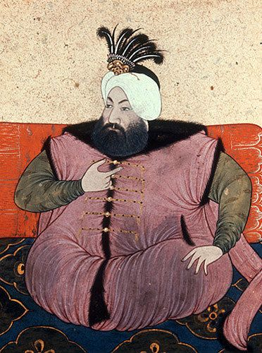 Sultan Ahmed II 1691-1695, portrait from nineteenth century manuscript no 3109…