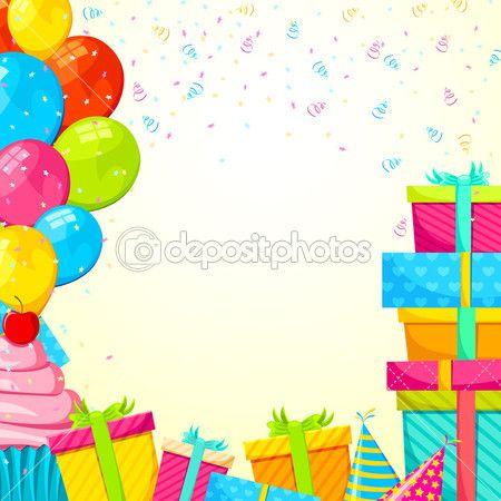 Стоковые векторные изображения День рождения фон   Depositphotos®