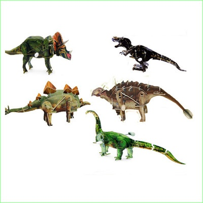 3d Wind Up Puzzles.  Pack of 5 Dinosaurs.  Green Ant Toys Online Toy Shop  Www.greenanttoys.com.au