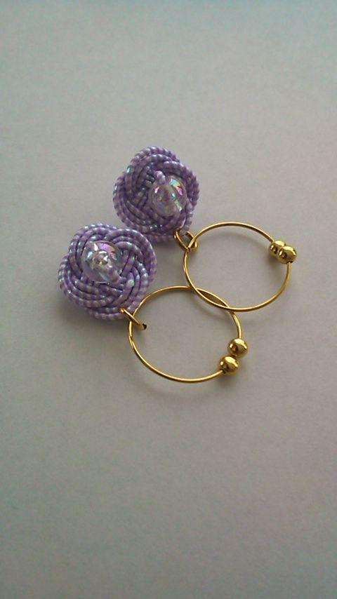 水引で作る紫陽花イヤリングの作り方|その他|ファッション小物