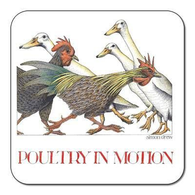 Simon Drew Poultry in Motion Coaster