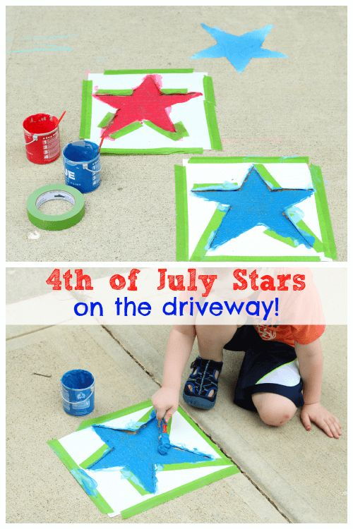 Use sidewalk chalk paint to decorate your driveway for your party!