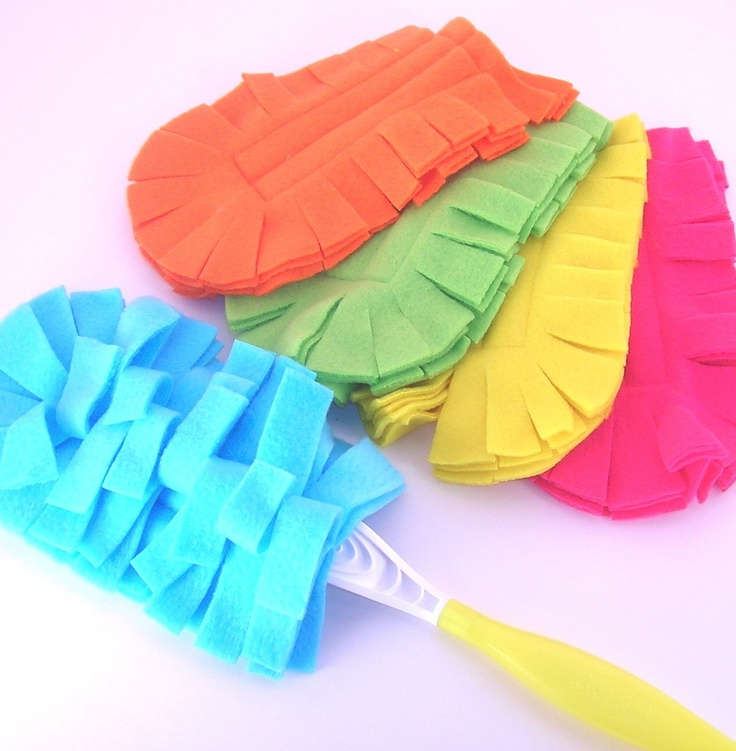 Reusable Swiffer dusters! Made from micro fleece, works even better than the disposables and they can be washed and reused over and over
