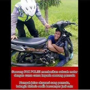 Sungguh Mulia Polisi ini - Pram from https://www.pram-software.com | #polisi #motor