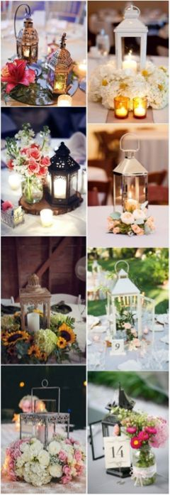A growing wedding trend is the use of lanterns as centerpieces in many different and creative ways. #AnneMarieWeddingFavors #lanterns #weddingprojects #weddingideas