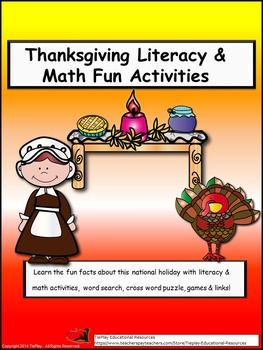 math worksheet : thanksgiving bundle the pilgrims informational text  fractions  : Thanksgiving Fraction Worksheets