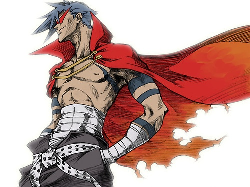 Day 3 Favorite male anime character ever: Urgh. So hard to choose I have too many favorites but I'll have to say Kamina from Gurren Lagann. Cuz WHO THE HELL DO YOU THINK HE IS!? >8D