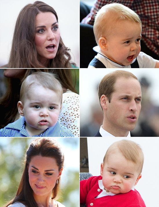 Prince George totally gets those faces from Mom and Dad: