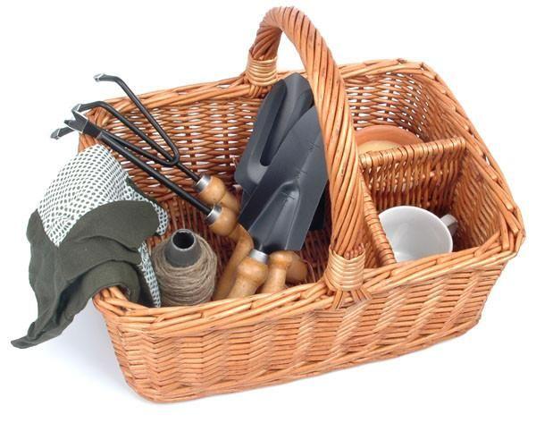 52 best garden tools baskets garden statues and decor for Gardening tools gift basket