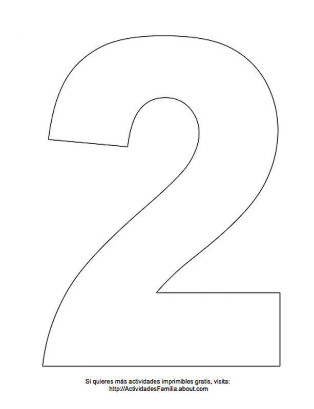 Numero 2 Para Colorear Bolos Numero Bolos Numero 2 Molde De