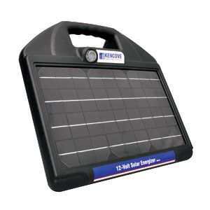 The 0.50-Joule Kencove 12-Volt Solar Energizer operates with an internal, rechargeable, 12-amp hour, 12-volt battery powered by a high-efficiency, 10-watt, monocrystalline solar panel. Ensures maximum power transmission for a constantly strong charge. 3-year warranty includes lightning damage