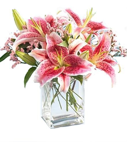 62 best easter flowers images on pinterest baskets boxing and celebrate easter with the pink star gazer lilies in vase from brant florist online worldwide florist negle Gallery