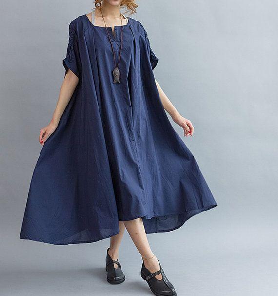 Loose Maxi Dress/ Cotton Oversize Dress/ Women cloak long dress