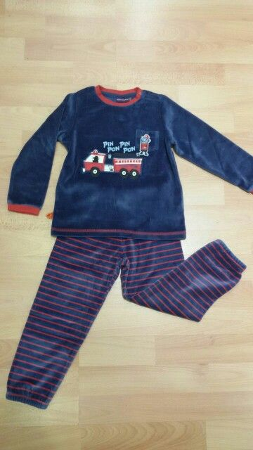Pijama coche bomberos niño