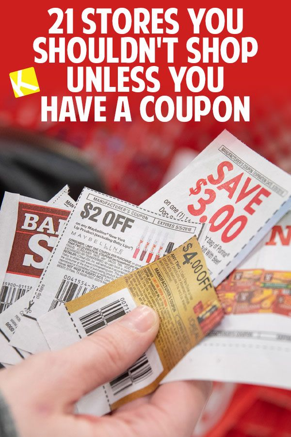 21 Stores You Shouldn T Shop Unless You Have A Coupon Coupons Promo Codes Online How To Start Couponing