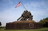 Marine Corp War Memorial ( Iwo Jima Memorial ) near Arlington Va