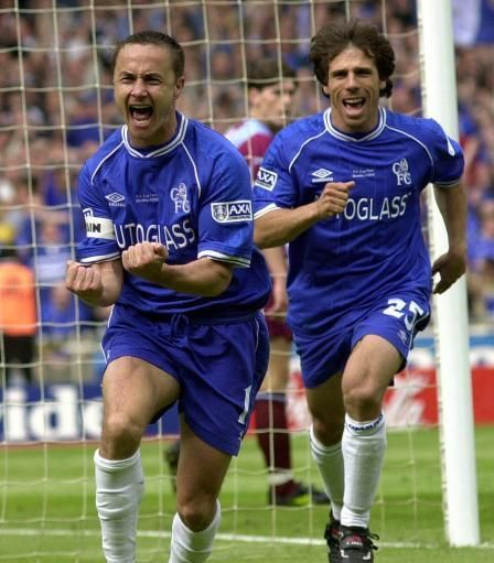 Dennis Wise and Gianfranco Zola. Chelsea Legends