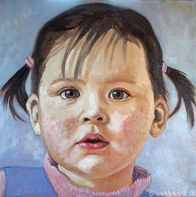 girl, 30x 30cm, oil on canvas ©ermine