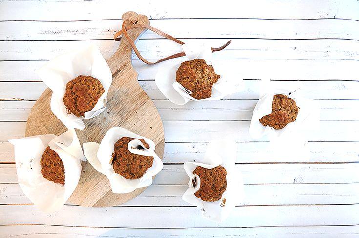 Pære- og ingefærmuffins