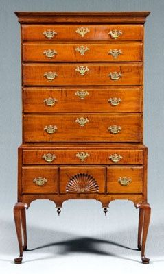 English Chippendale highboy
