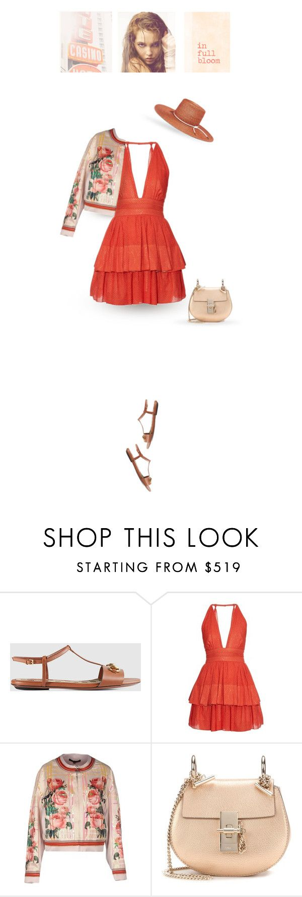 """""""in full bloom"""" by pinkchampagneme ❤ liked on Polyvore featuring Gucci, Sophie Theallet, Yohan Kim, DUO, Chloé and Eugenia Kim"""