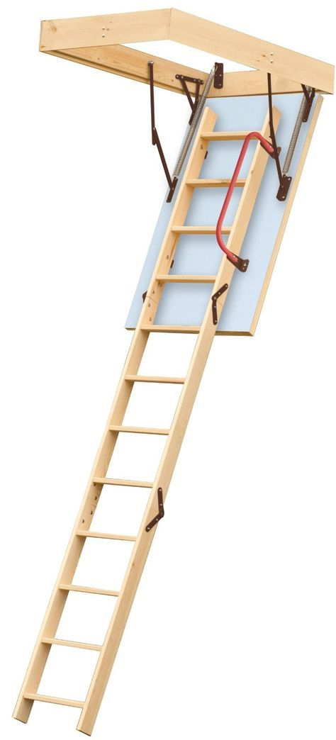 Lyte Easiloft 3 Section Timber Loft Ladder - Fully Assembled, Including Insulated Hatch Door and Handrail: Amazon.co.uk: DIY & Tools