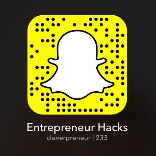 """Add us on snapchat! Our name is """"Cleverpreneur"""" or add by snap code to receive daily entrepreneur tips tricks and hacks! We can answer all your questions on here also! Sharing is caring. Like us for daily dose of motivation. Follow Us on twitter https://twitter.com/VivekMotivatesU or @VivekMotivatesU Quotes Inspirational Motivational Originally posted at http://ift.tt/1V53YFM For more Like us at http://ift.tt/1JmyUrh"""