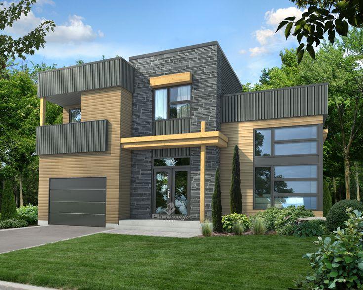 28 best Maison bois et pierre images on Pinterest Home ideas - maison bois en kit toit plat