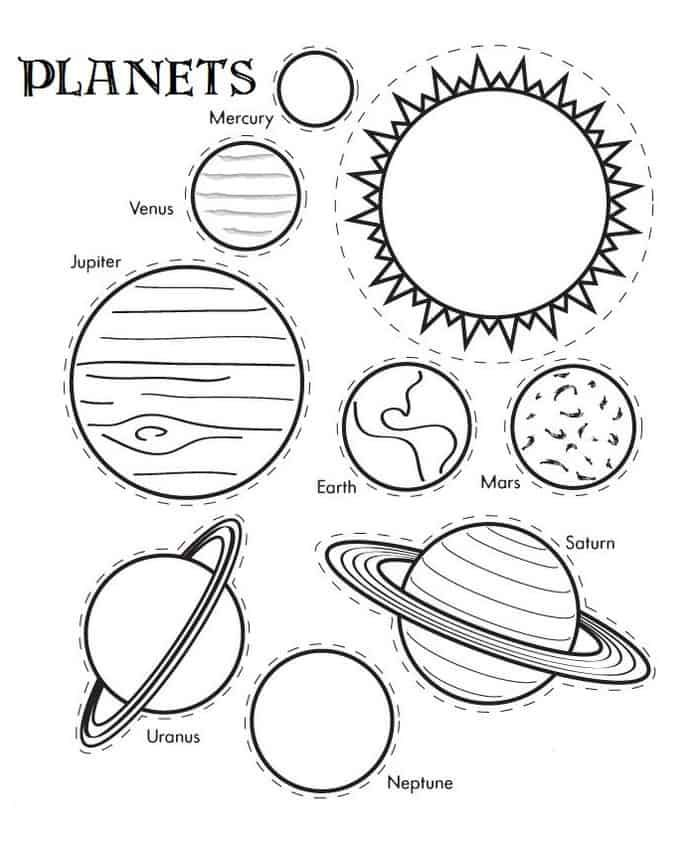 Black And White Coloring Pages Of Our Solar System Solar System Coloring Pages Solar System Crafts Planet Coloring Pages