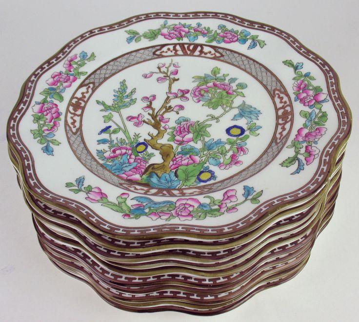 10 Dinner Plates Coalport Indian Tree Vintage England Multicolored | eBay