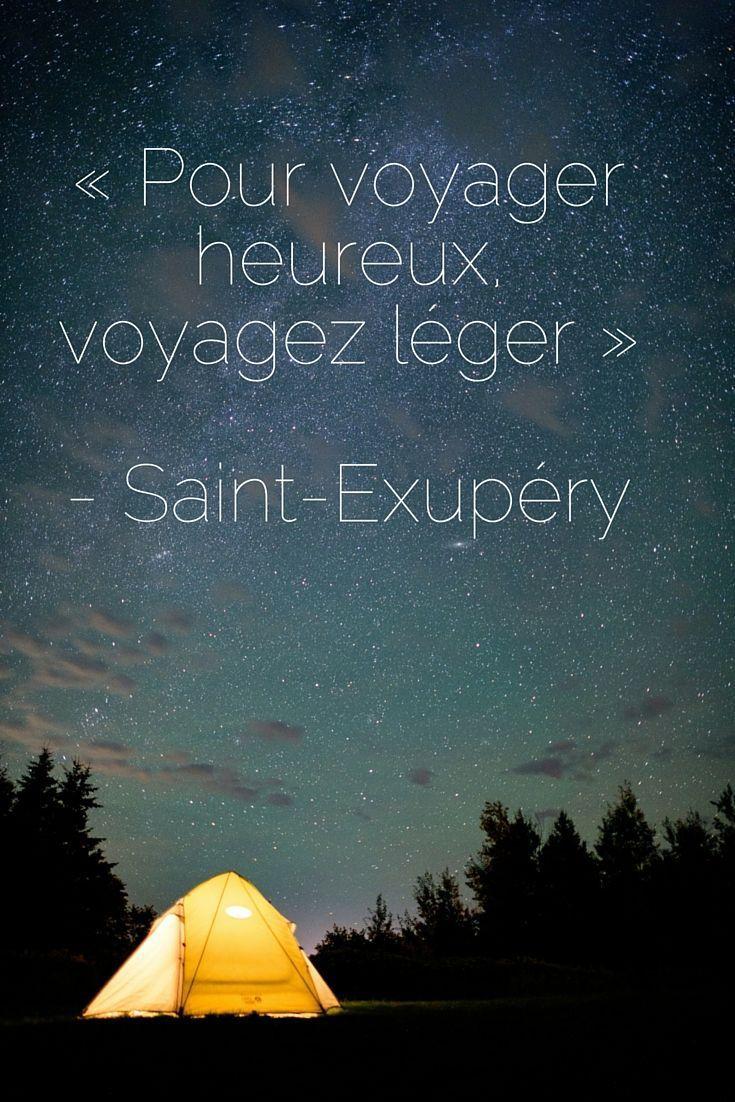 « Pour voyager heureux, voyagez léger » - Saint-Exupéry   Citations de voyage inspirantes   Vivez votre aventure de rêve au Nouveau-Brunswick, Canada
