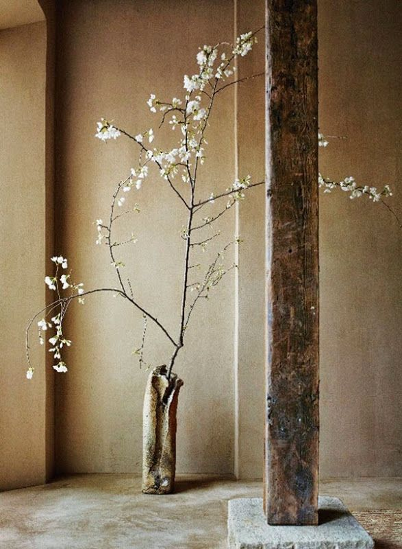 Axel used natural materials and time-worn objects that evoke the essence of this Japanese philosophy.