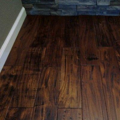 Grymt fint golv!!  Hand Scraped Acacia Hardwood Flooring Engineered wood