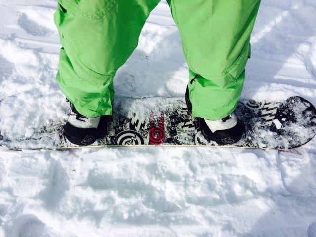 Snowboard on Dolomites
