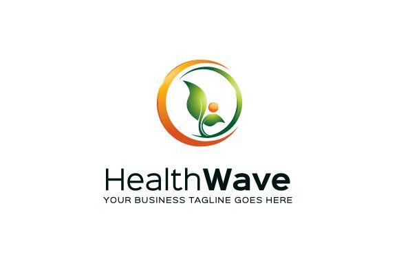Health Wave Logo Template by Mudassir101 on @creativemarket