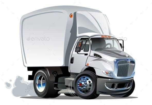 Cartoon Delivery Or Cargo Truck With Images Trucks Truck Art