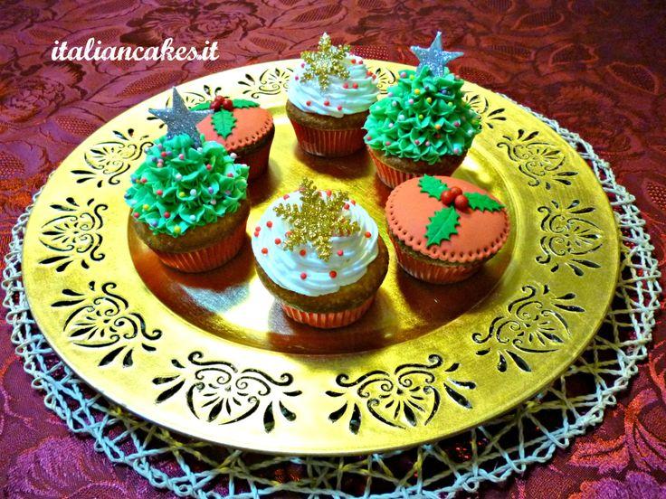 Christmas cupcakes by ItalianCakes video tutorial