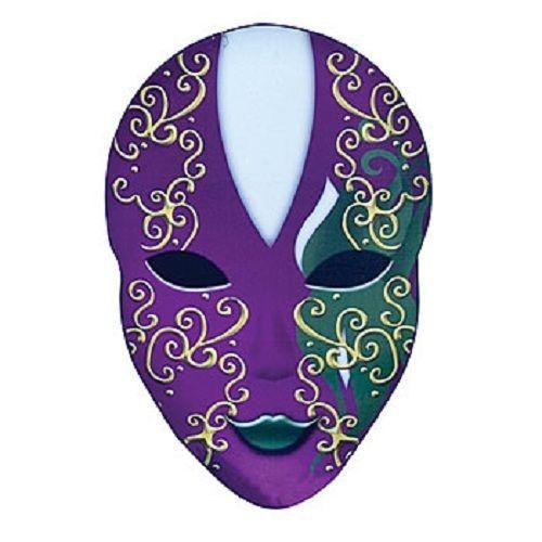 MARDI GRAS  MYSTIQUE OVAL MASK STANDEE * party decoration  birthday / masquerade