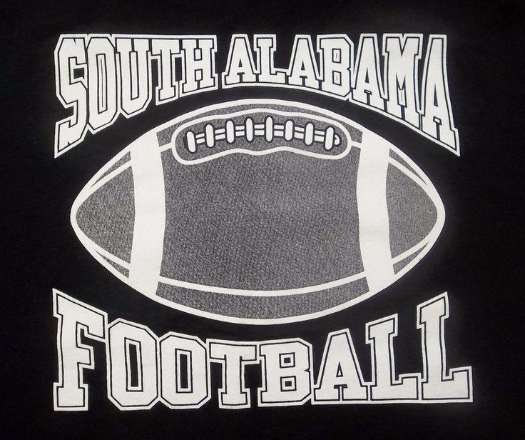 Black South Alabama Football T-Shirt Adult 3XL XXX-Large #Delta #SouthAlabamaJaguars
