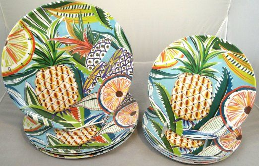 tropical dinner plates - Google Search