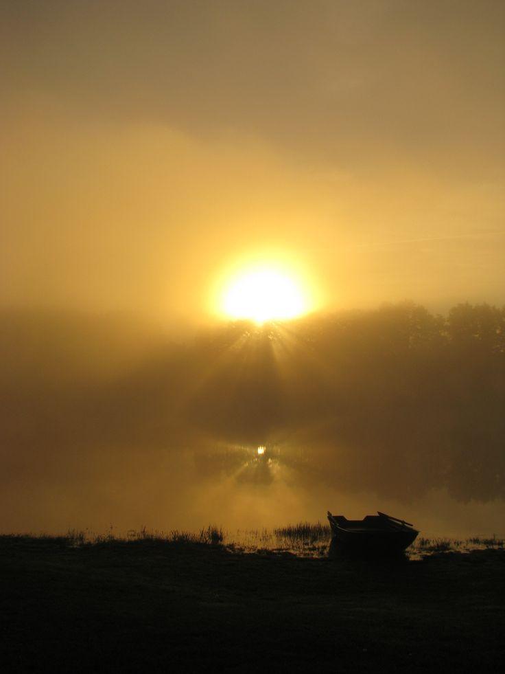Landscape of a lake at sunrise