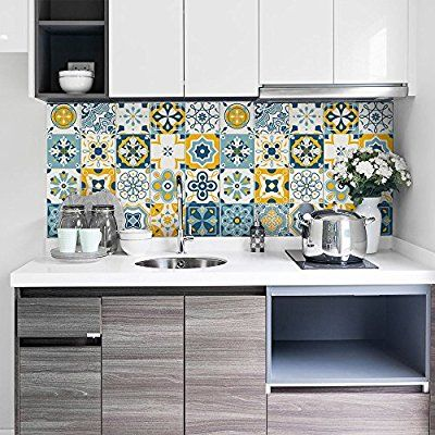 Les Meilleures Images Du Tableau Adhesif Sur Pinterest - Stickers carrelage cuisine 15x15 pour idees de deco de cuisine