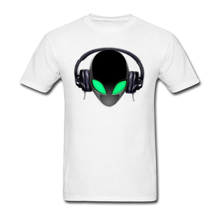 Casual Short Sleeve Organic Cotton Alien Music Lover DJ Men t-shirt men t shirt Cheap Sale