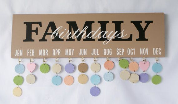 FAMILY BIRTHDAY BOARD  Birthday Calendar  by ThreeDamesDreamin