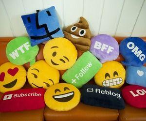emoji pillows by @throwboy | via Tumblr