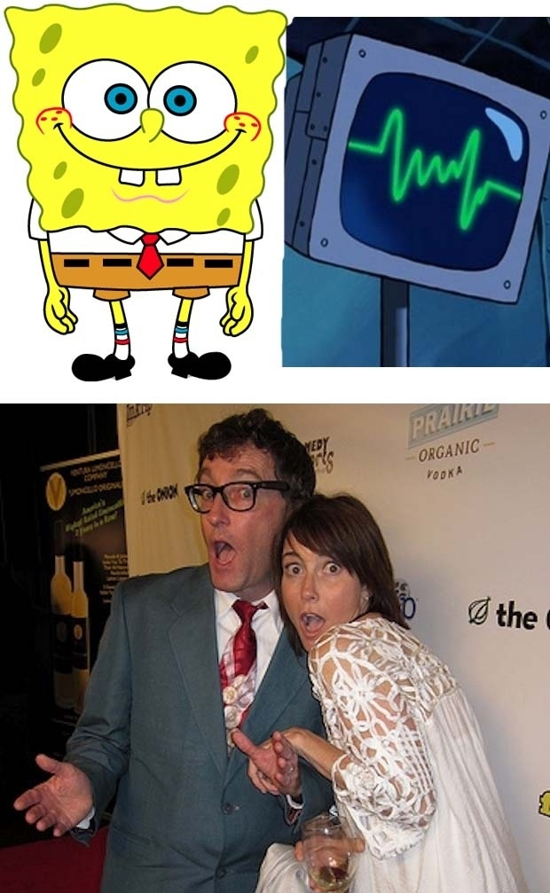 The voice actor of SpongeBob and the voice actor of Plankton's computer wife are married in real life...wait till Plankton finds out!!